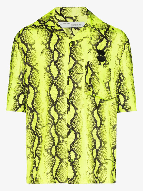 Off-White relaxed snake print shirt