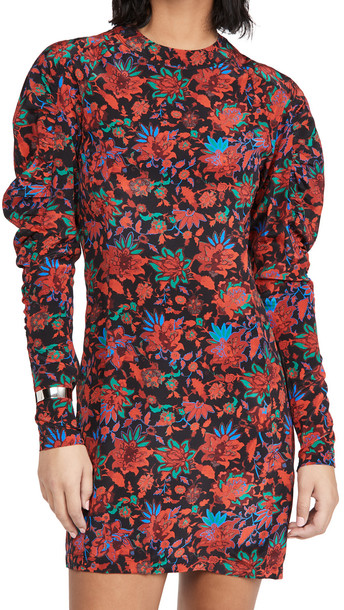Rag & Bone Stephanie Printed Mini Dress in red / multi
