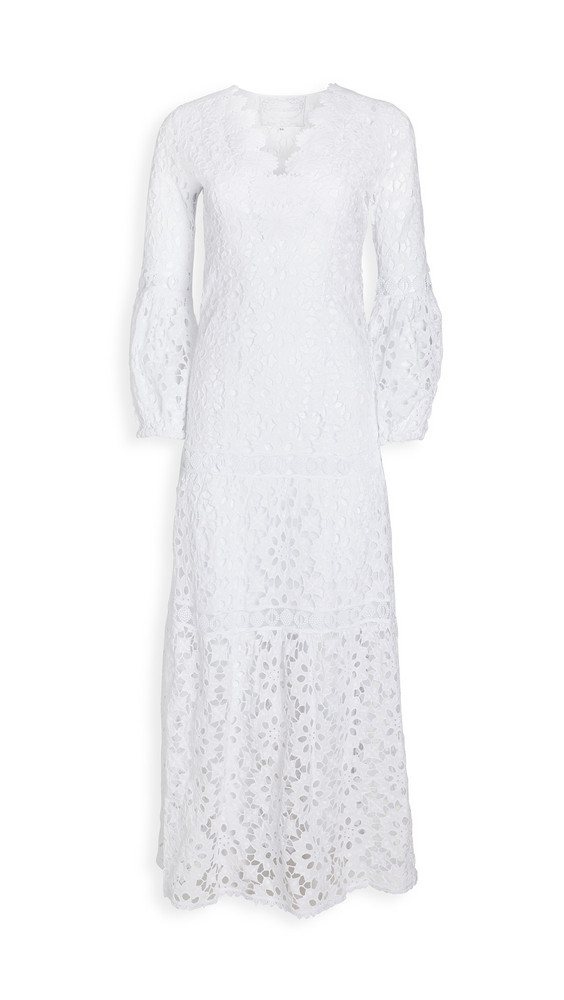 Temptation Positano Argentino Daisy Lace V Neck Gown in bianco