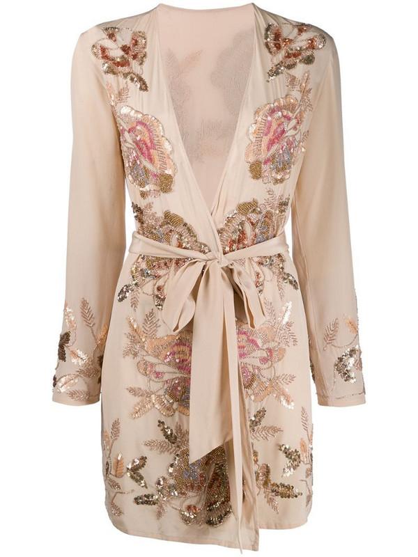 Myla Dukes Avenue short gown in neutrals