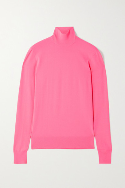 Bottega Veneta - Knitted Turtleneck Sweater - Pink