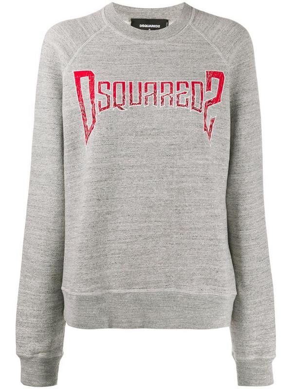 Dsquared2 logo print jumper in grey