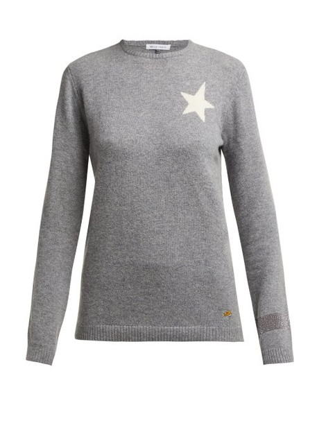 Bella Freud - Billie Star Intarsia Cashmere Sweater - Womens - Grey
