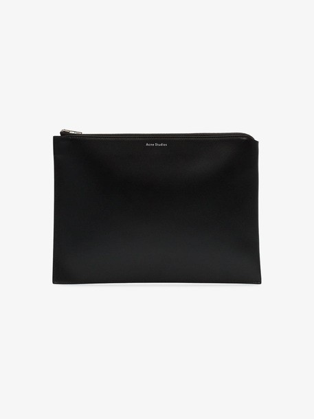 Acne Studios black malachite leather pouch