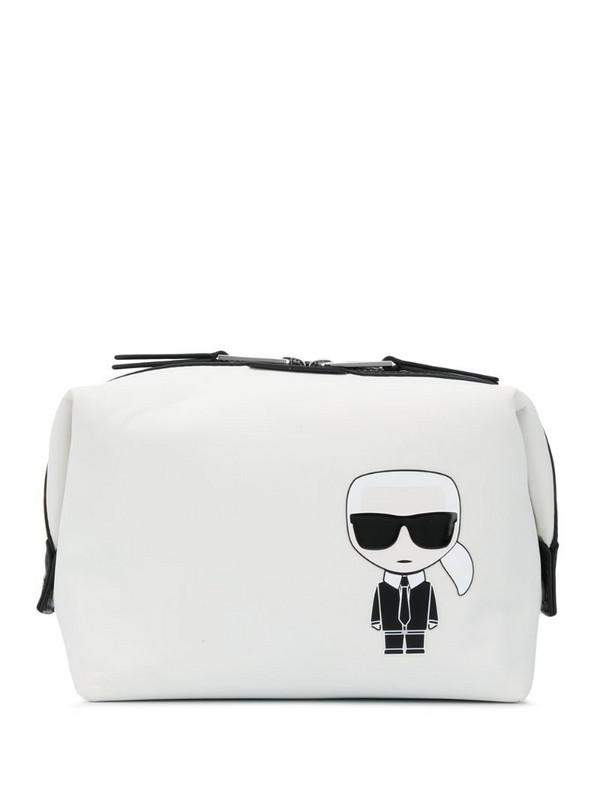 Karl Lagerfeld K/Ikonik wash bag in white