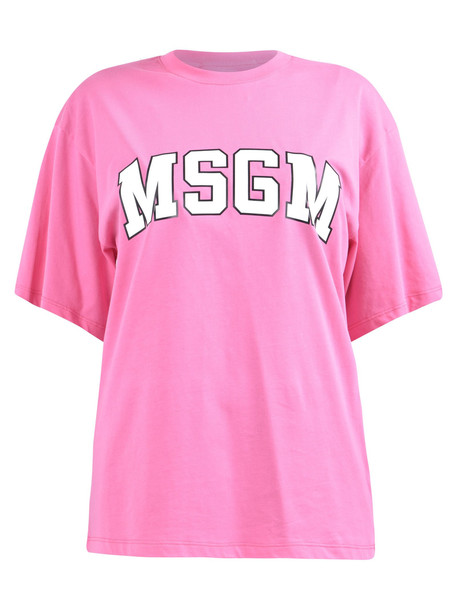 MSGM Branded T-shirt in pink