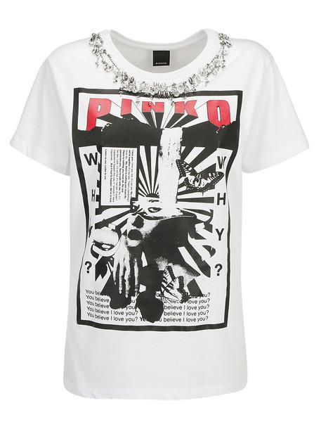 Pinko Ora T-shirt in bianco
