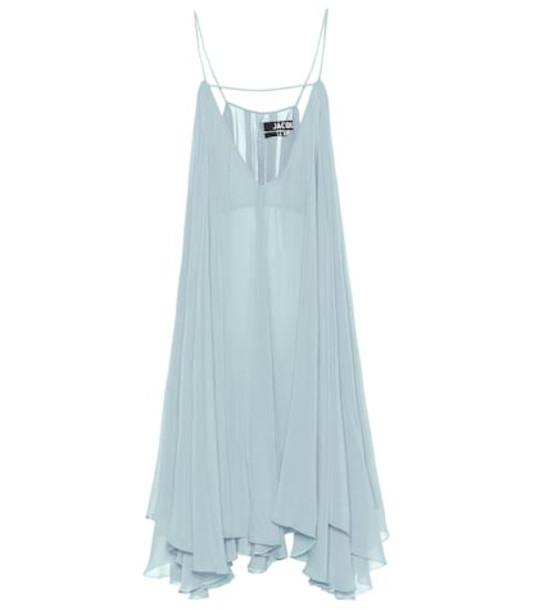 Jacquemus La Robe Bellezza crêpe dress in blue