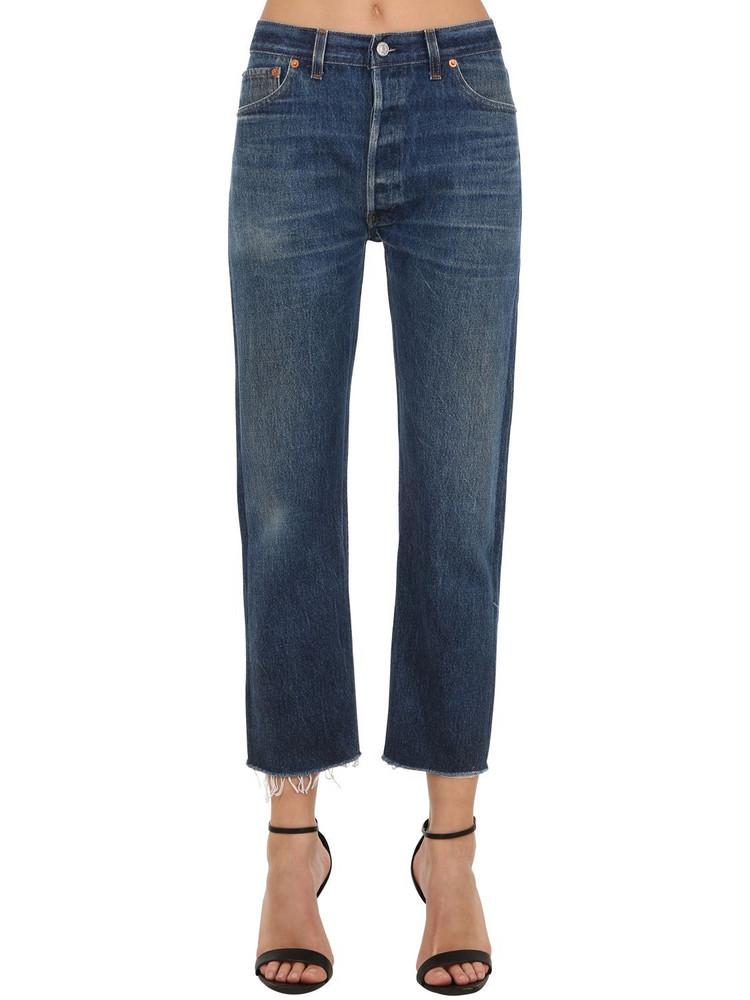 RE DONE Levi's Hi Rise Straight Leg Denim Jeans in blue