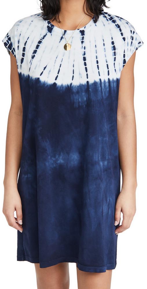 Raquel Allegra T-Shirt Dress in indigo / white
