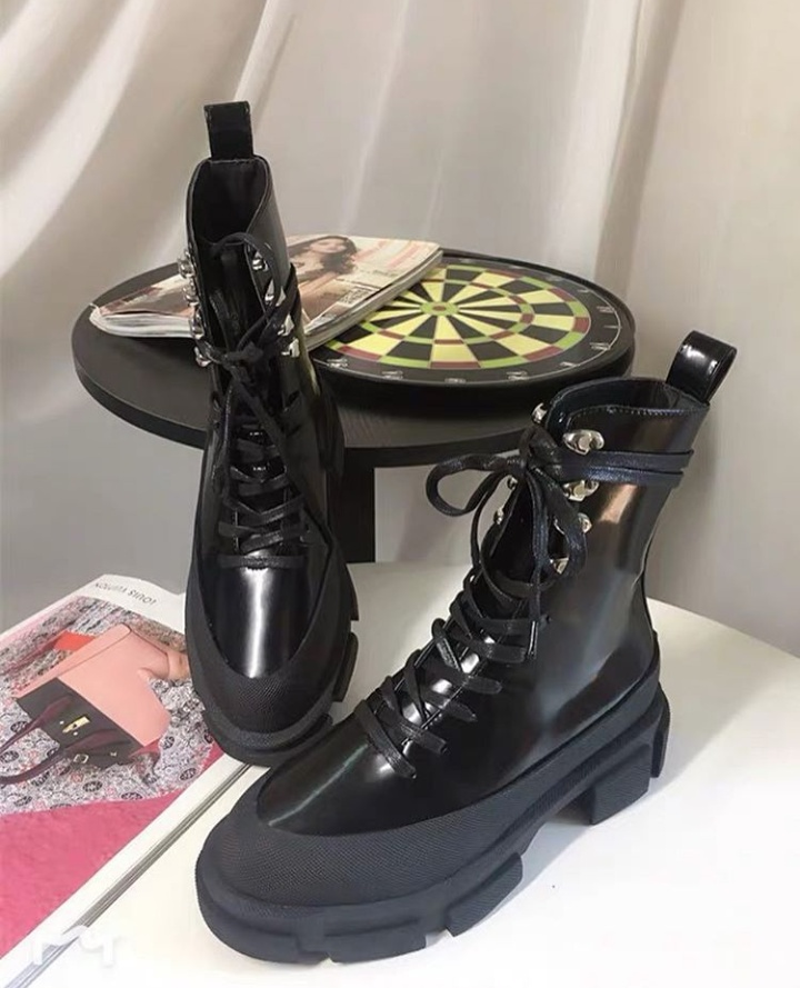 shoes chunky heel boots