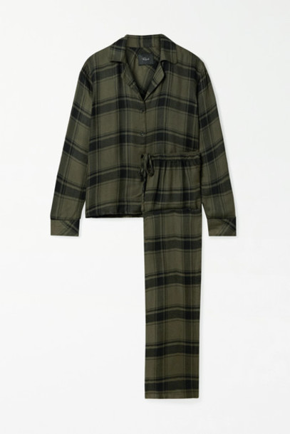 Rails - Clara Checked Flannel Pajama Set - Green