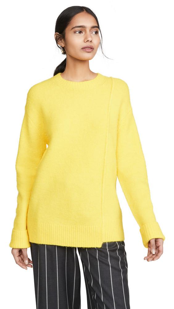 Acne Studios Kerna Fluffy Alpaca Pullover in yellow