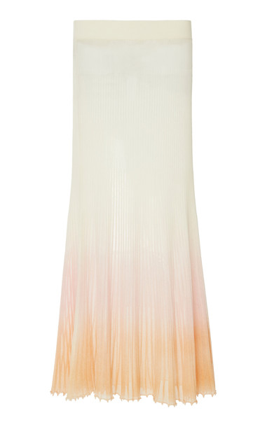 Jacquemus La Jupe Helado Longue Pleated Cotton-Blend Maxi Skirt Size: in pink