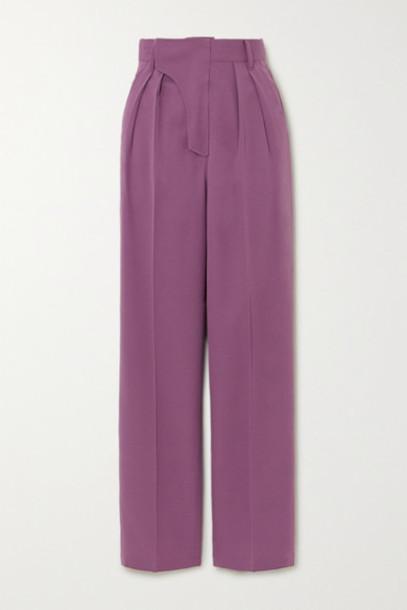 AMBUSH® AMBUSH® - Pleated Wool Wide-leg Pants - Pink