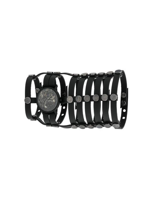 SOUTH LANE x AUMORFIA Gladiator strapped watch in black