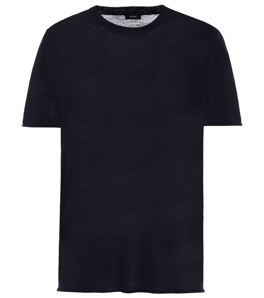Joseph Cashmere T-shirt in blue