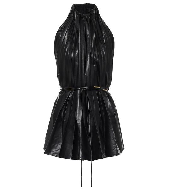Ellery Philodemus faux-leather top in black