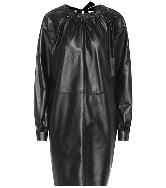 Tod's Leather minidress in black