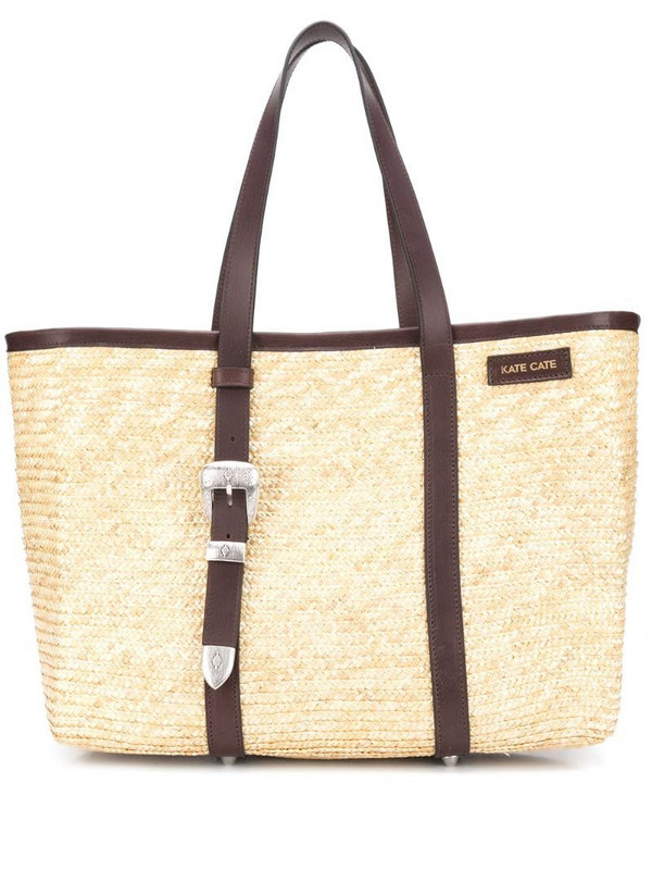 Kate Cate Spina straw tote bag in brown