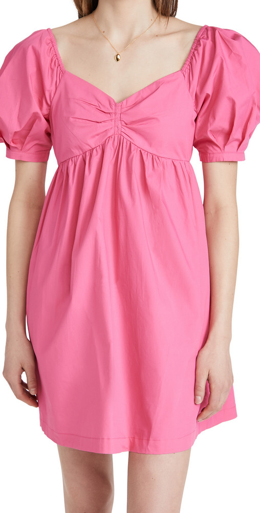 ENGLISH FACTORY Puff Sleeve Babydoll Dress in pink