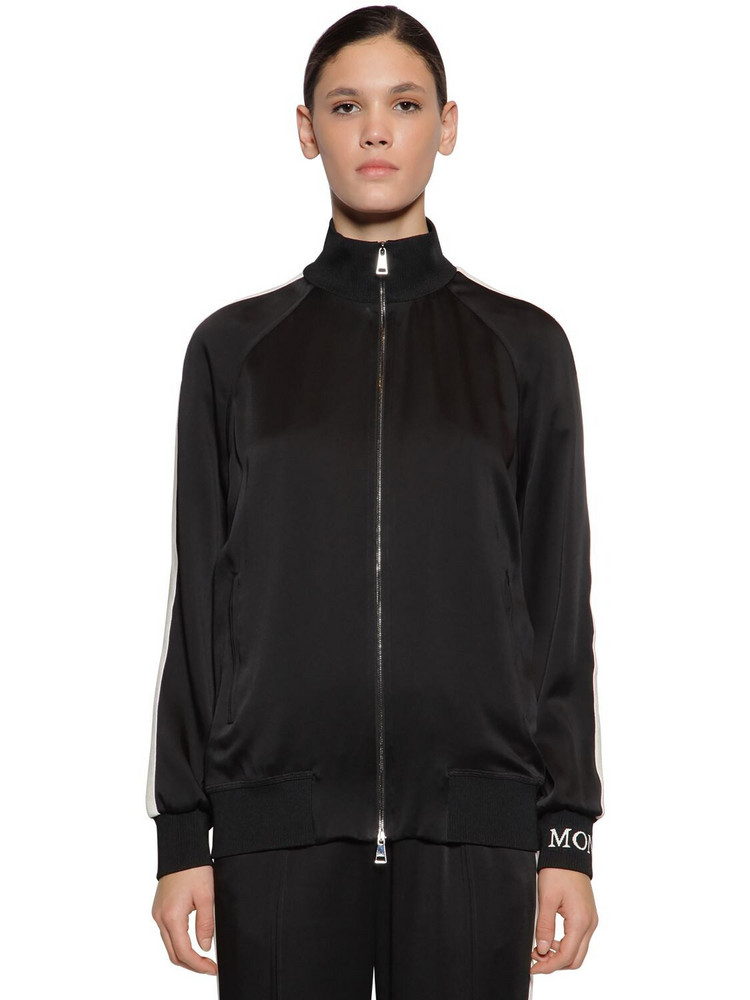 MONCLER Invers Acetate & Viscose Sweatshirt in black