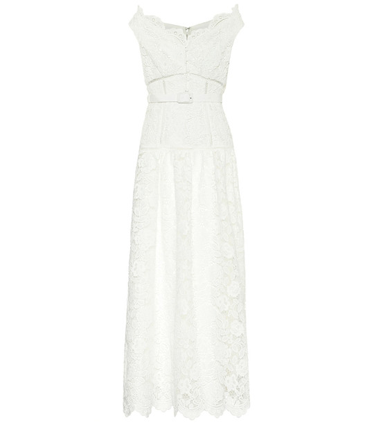 Self-Portrait Exclusive to Mytheresa – Floral lace maxi dress in white