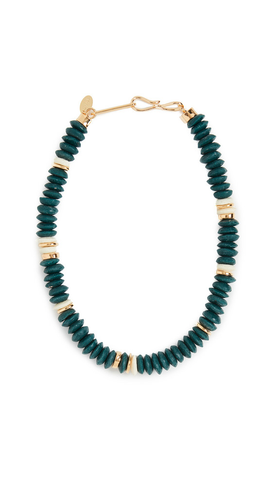 Lizzie Fortunato Laguna Necklace in Hunter in green