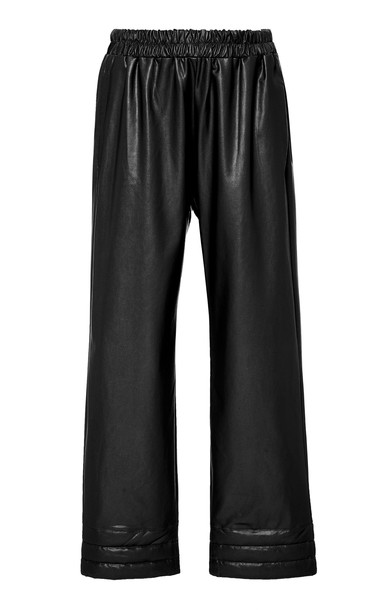 Deitas Vero Organic Vegan Leather Trousers in black