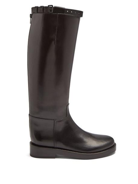 Ann Demeulemeester - Knee High Leather Boots - Womens - Black