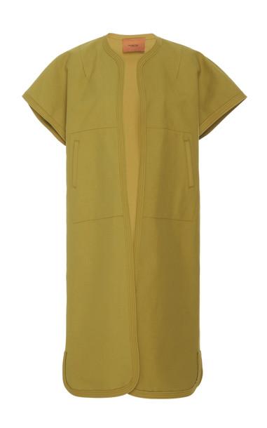 Rachel Comey Long Level Cotton Jacket Size: 0 in yellow