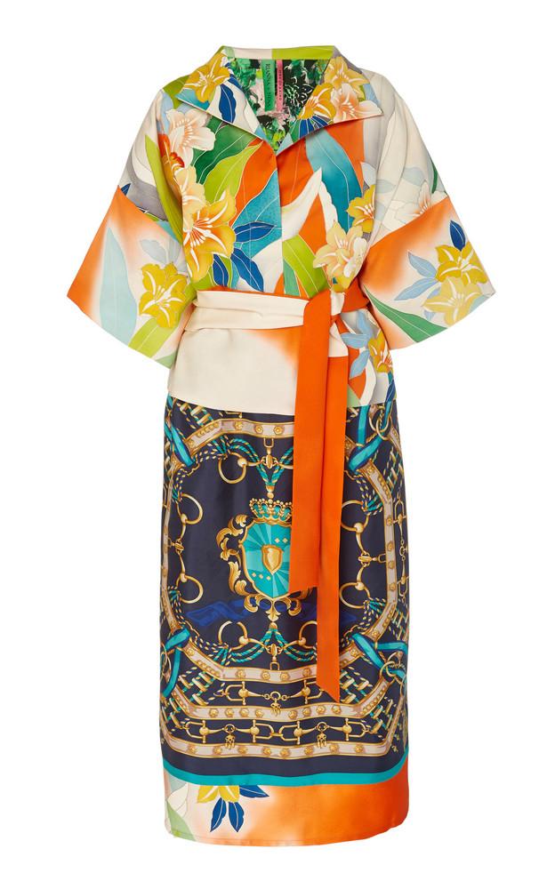 Rianna + Nina Rianna + Nina Exclusive One Of A Kind Vibrant Silk Dress in multi