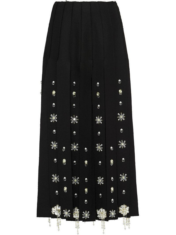 Prada embroidered skirt in black