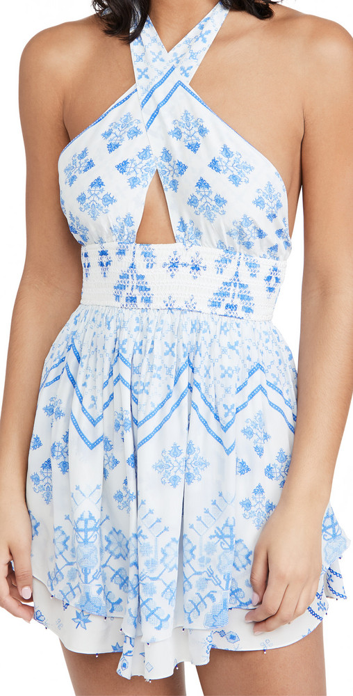 ROCOCO SAND Short Dress in blue / white