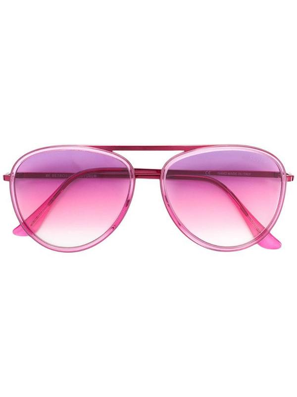 Retrosuperfuture aviator sunglasses in pink