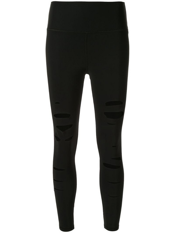 Alo Yoga high-waisted ripped leggings in black