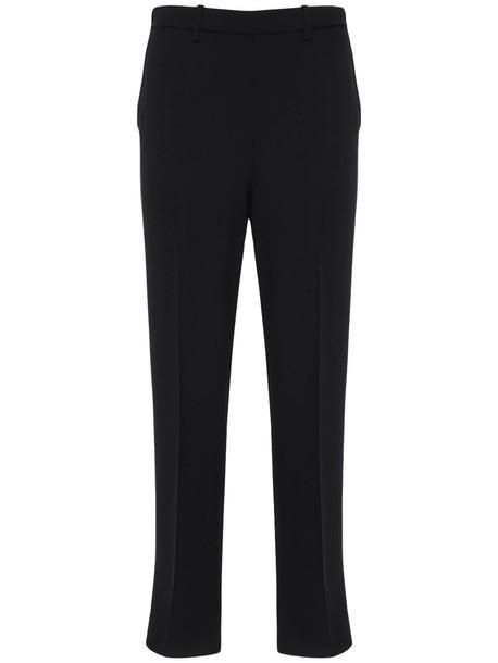 FORTE FORTE Crepe Satin Straight Pants in black