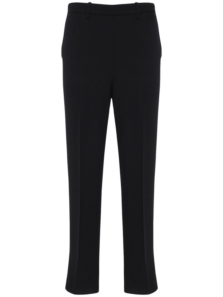 FORTE FORTE Crepe Satin Straight Pants in black