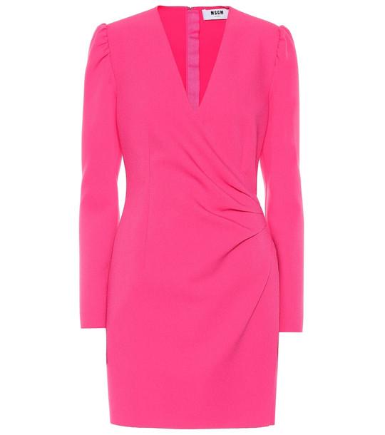 MSGM Crêpe minidress in pink