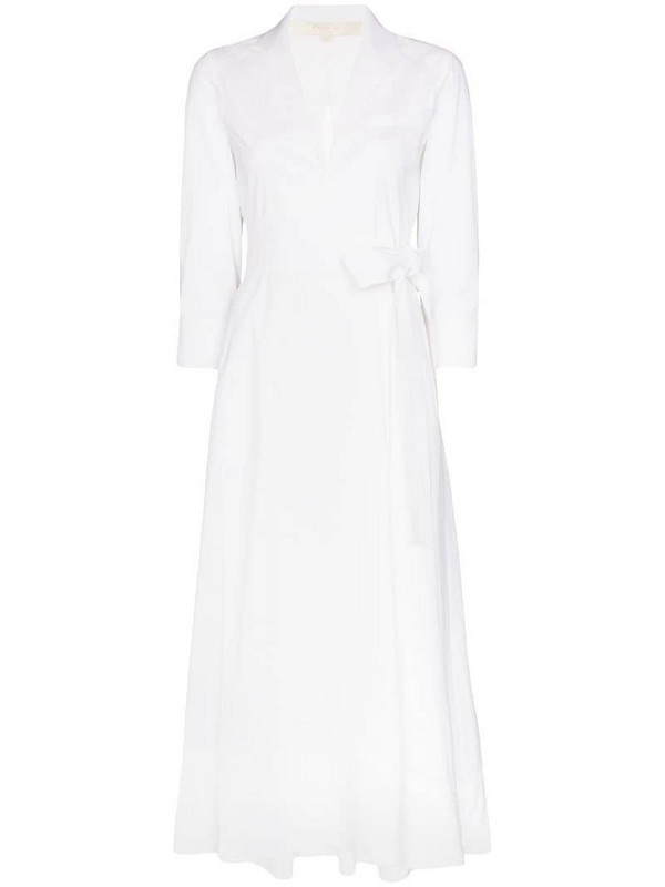 By Any Other Name wrap-around shirt dress in white