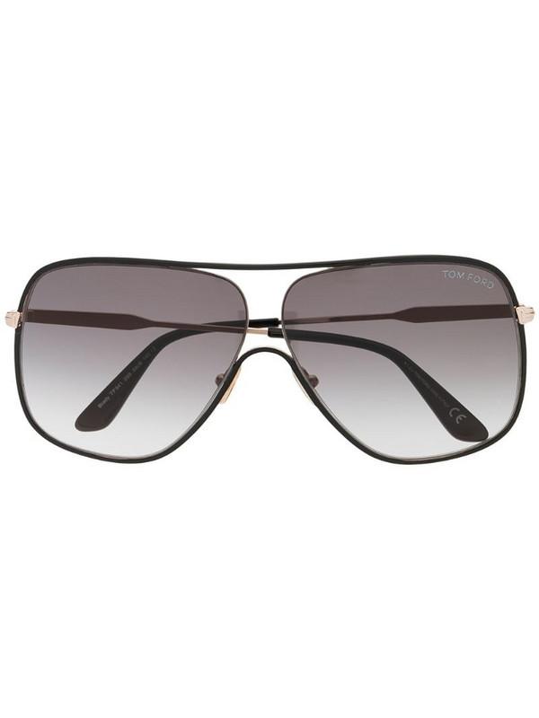 Tom Ford Eyewear aviator frame sunglasses in black