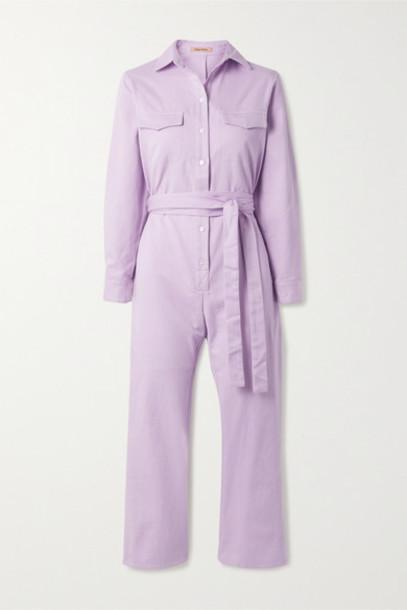 Maggie Marilyn - Net Sustain Bite The Bullet Organic Denim Jumpsuit - Lilac