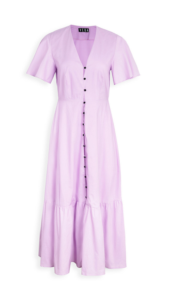 VEDA Montana Cotton Dress in lilac