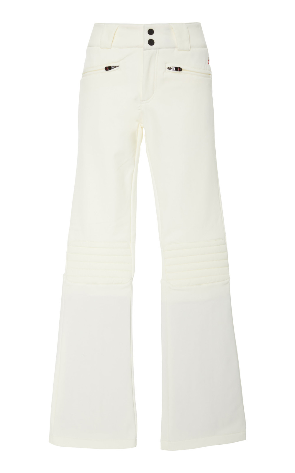 Perfect Moment Aurora Stretch-Jersey Flared Ski Pants in white