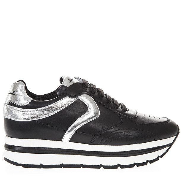 Voile Blanche Black Marica Leather Sneakers