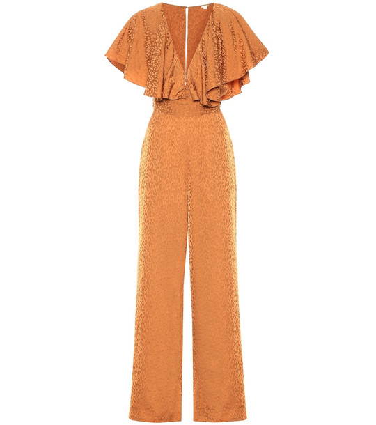 Johanna Ortiz Poetry In Motion jacquard jumpsuit in brown