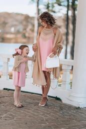 something delightful,blogger,dress,scarf,bag,jewels,shoes,cardigan