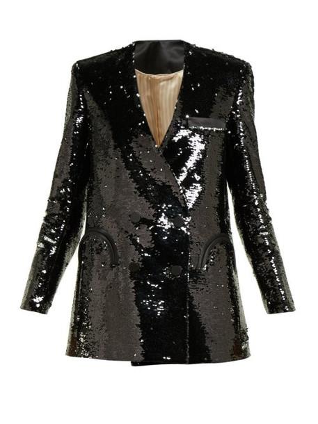 Blazé Milano - Kelpie Sequinned Double Breasted Blazer - Womens - Black Multi