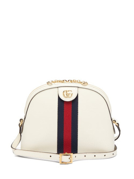Gucci - Ophidia Small Leather Cross-body Bag - Womens - White