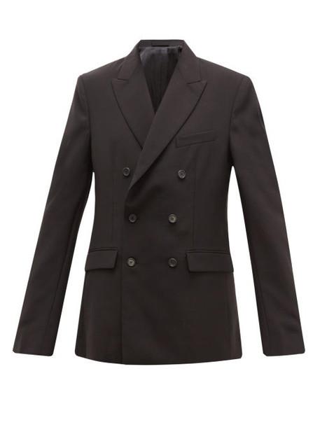 WARDROBE.NYC Wardrobe. nyc - Double Breasted Merino Wool Blazer - Womens - Black
